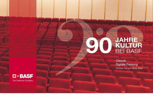90 Jahre Kultur bei BASF, Chronik