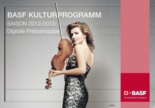 BASF Kulturprogramme, Pressemappen