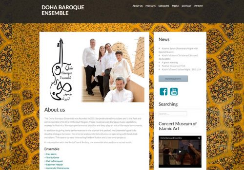 Doha Baroque Ensemble, Web