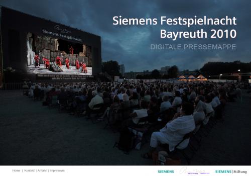 Siemens Festspielnacht, Pressemappe