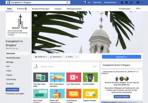German Church Singapur, Social Media