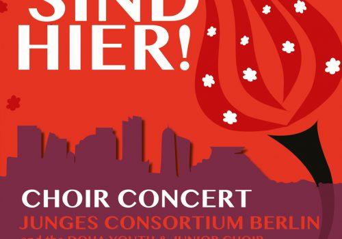 "Choir concert ""Wir sind hier!"""